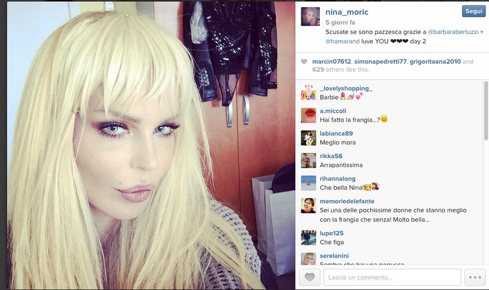 Nina Moric ha tentato il suicidio