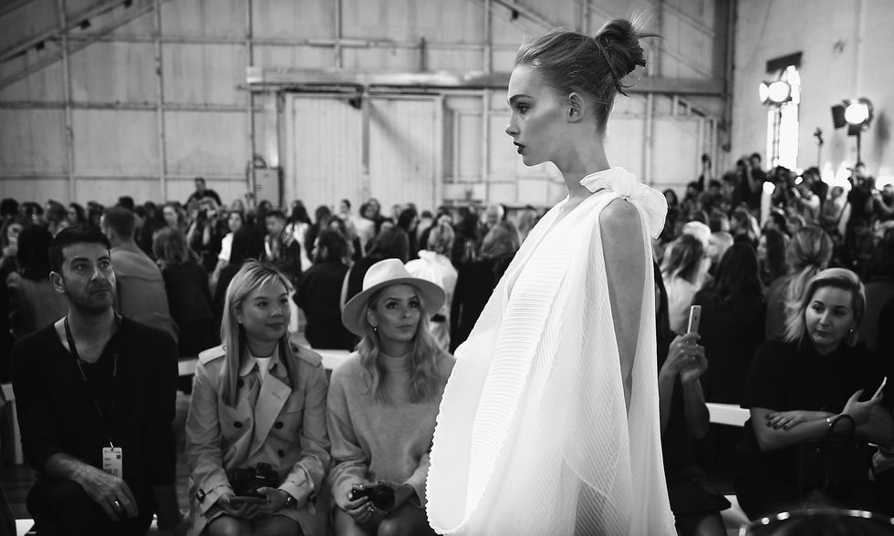 L'Australia Fashion Week in bianco e nero