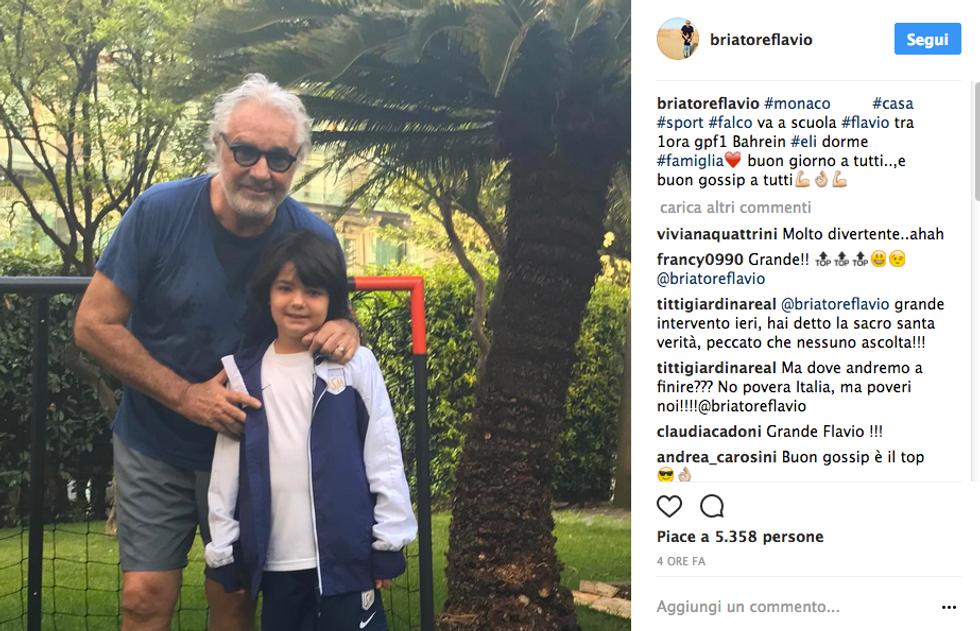 Flavio Briatore e Nathan Falco