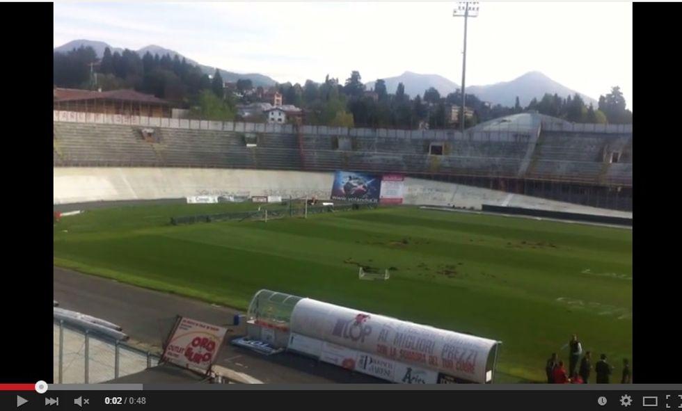 A Varese niente calcio: vandali devastano lo stadio Ossola