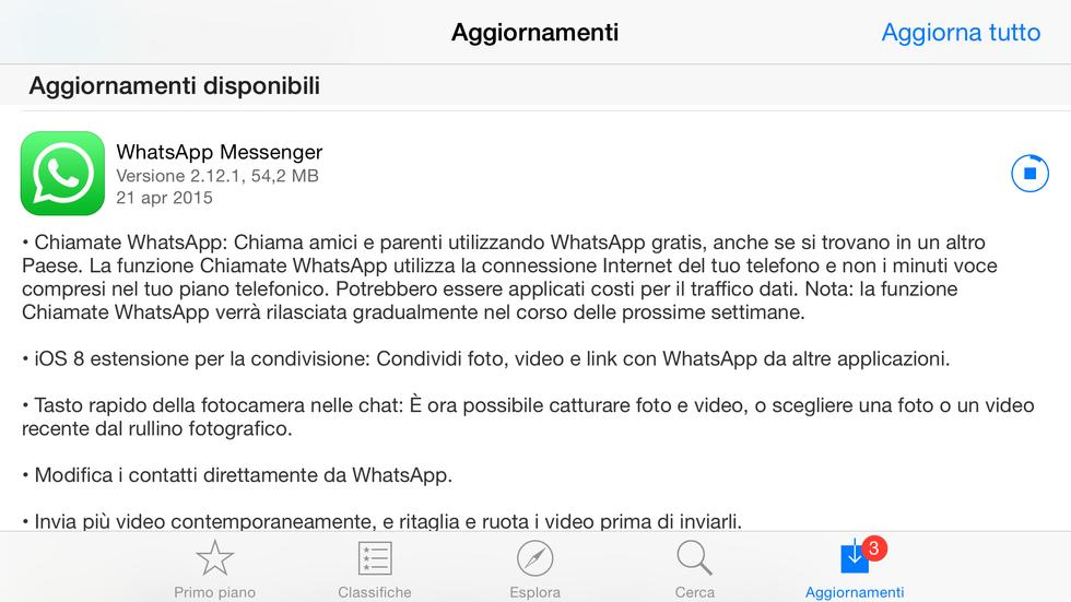 WhatsApp: è l'ora delle chiamate su iOS