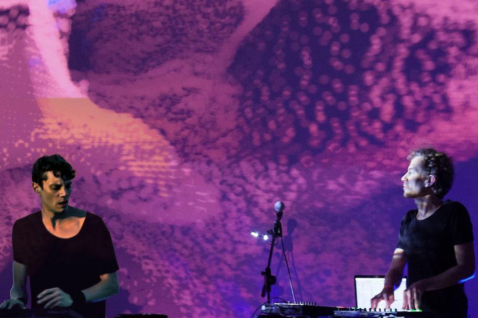 Tristano e Braga on stage