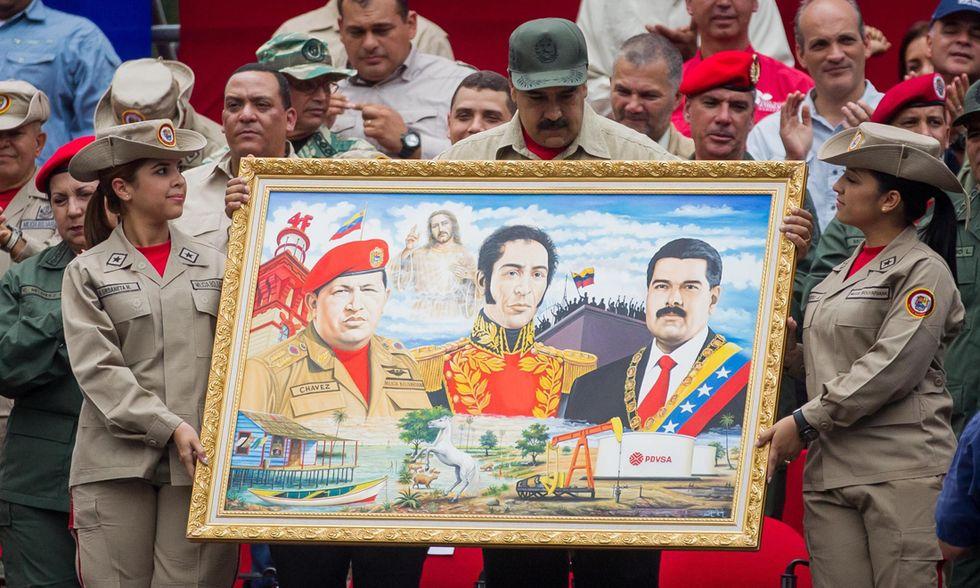 Simon Bolivar, Chavez, Maduro
