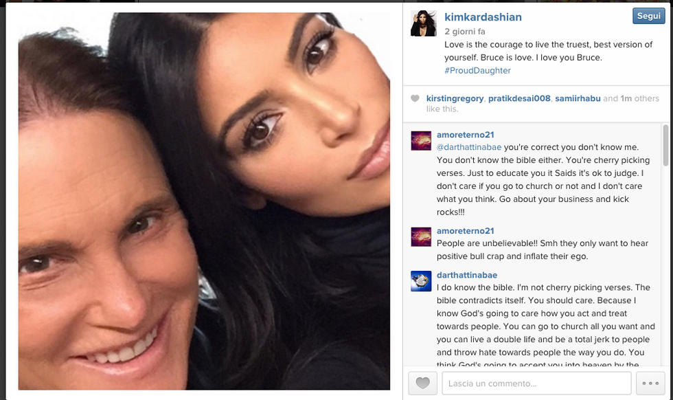 Kim Kardashian attacca Caitlyn Jenner