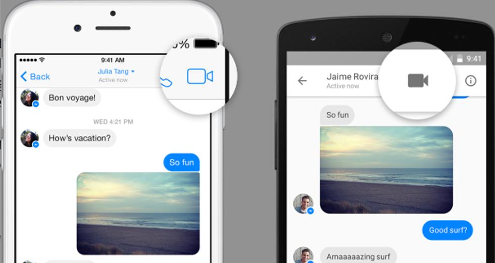 Facebook attiva la video-chiamata