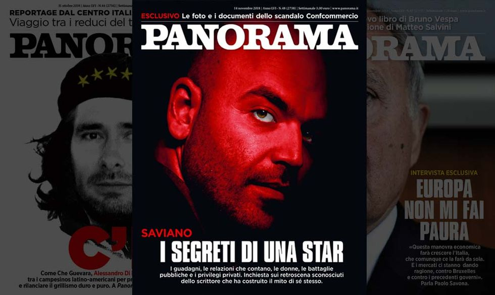 Saviano, copertina Panorama 48