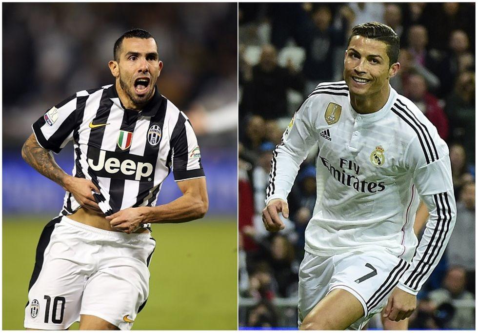 Tevez contro Ronaldo, la notte di Juventus-Real Madrid