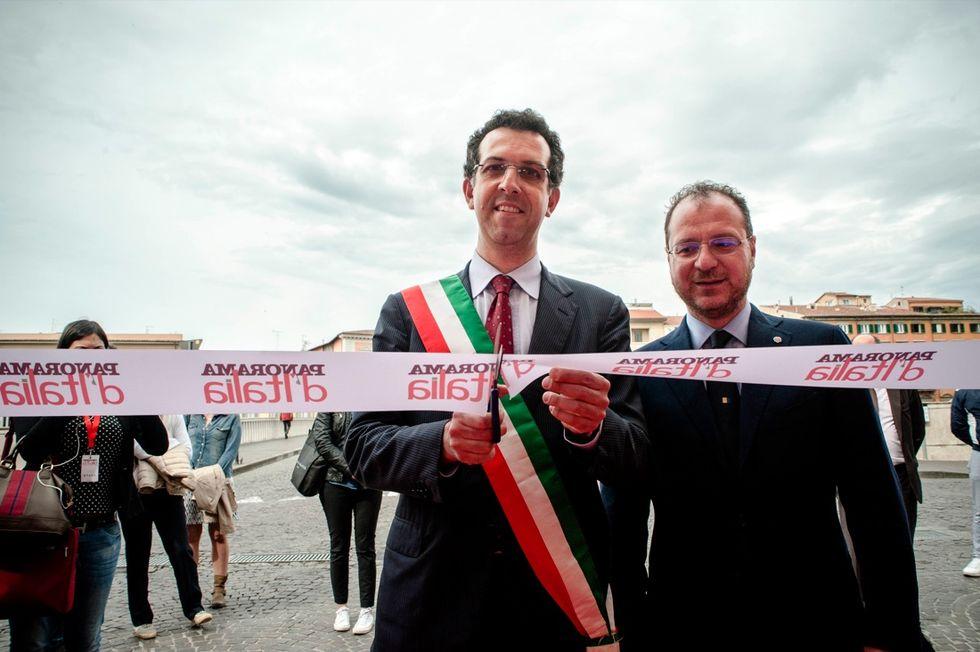 L'inaugurazione della casa di Panorama d'Italia a Pisa