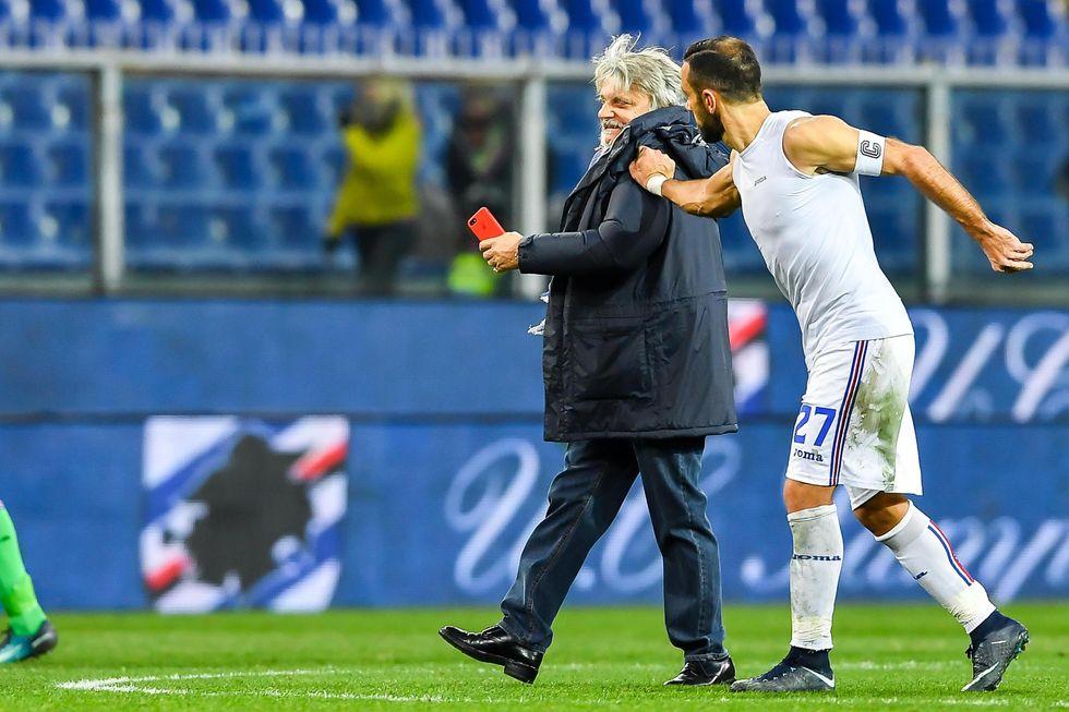 quagliarella sampdoria addio rinnovo contratto ferrero milan kownacki