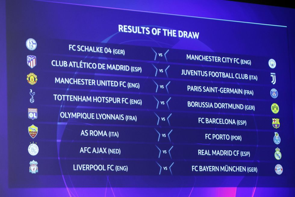 champions league ottavi finale sorteggio juventus roma