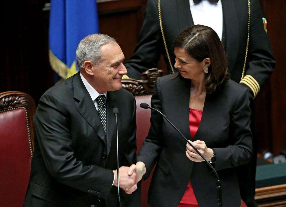 Pietro Grasso, Laura Boldrini e il degrado della politica italiana