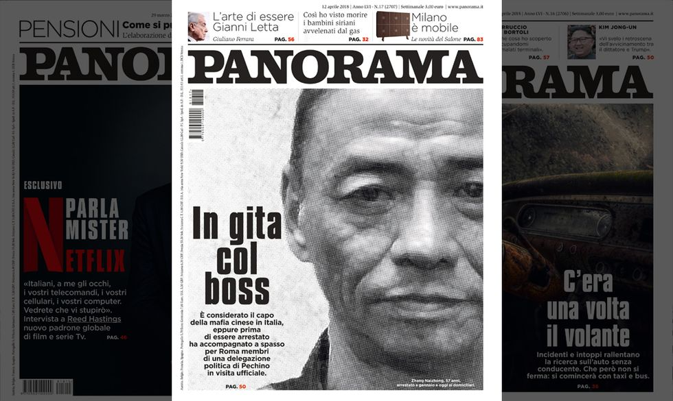 Un politico e il capo della mafia cinesi con la scorta della polizia