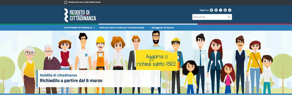 Reddito di Cittadinanza sito ufficiale Governo