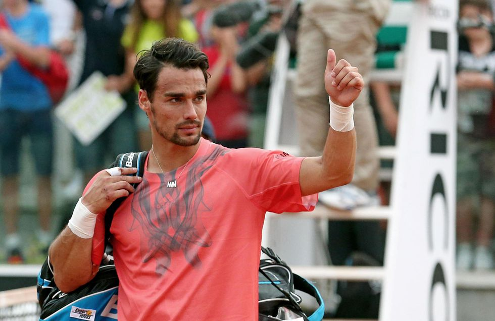 Tennis: Fognini esce (a testa alta) dagli Internazionali