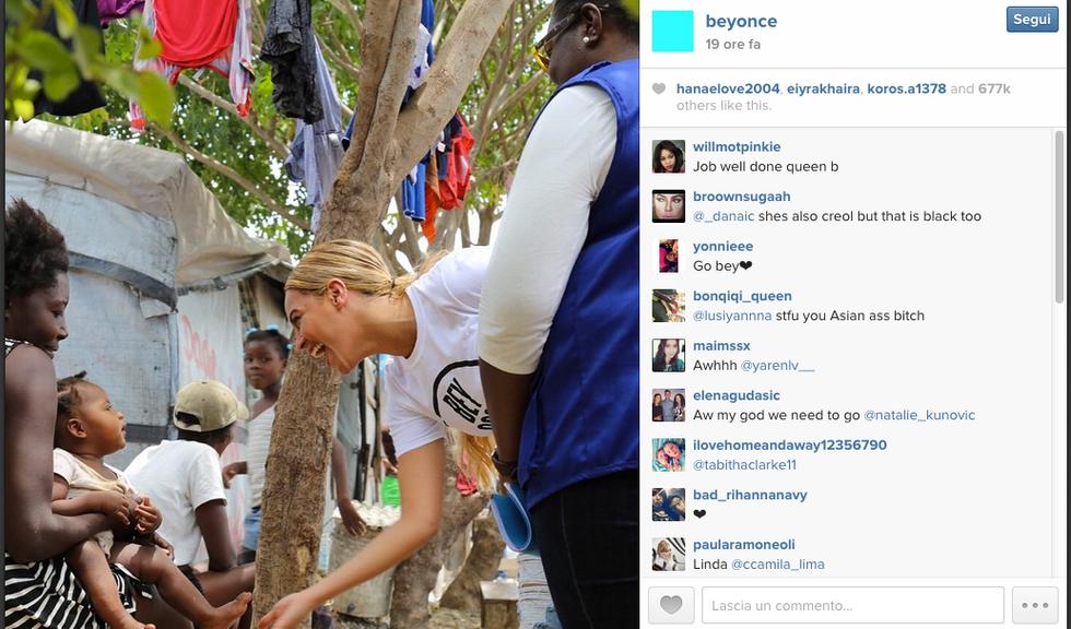 Beyoncè, missione Onu ad Haiti
