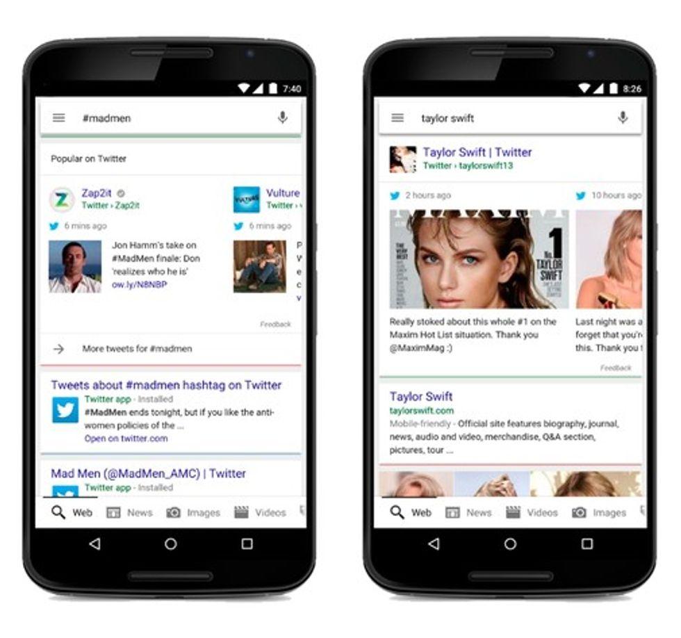 Twitter dentro i risultati di Google: ecco le conseguenze