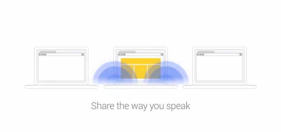 Google: Chrome condivide i documenti con il suono