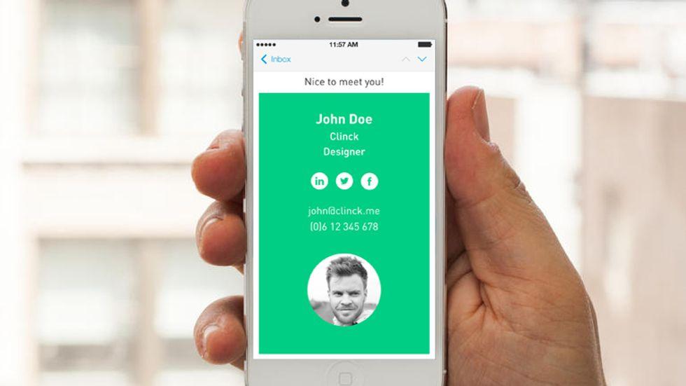 Clinck, l'app per dire addio al biglietto da visita (cartaceo)