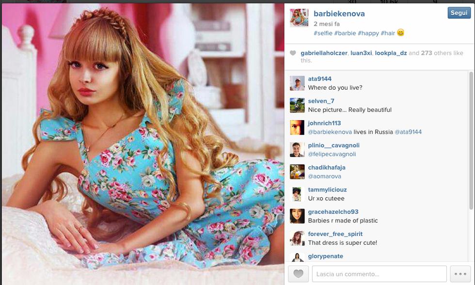 Angelica Kenova, la modella trasformata in Barbie dai genitori