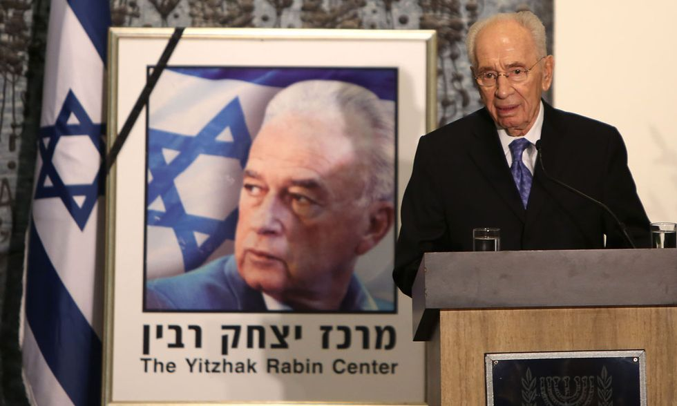 Peres ricorda l'assassinio di Rabin