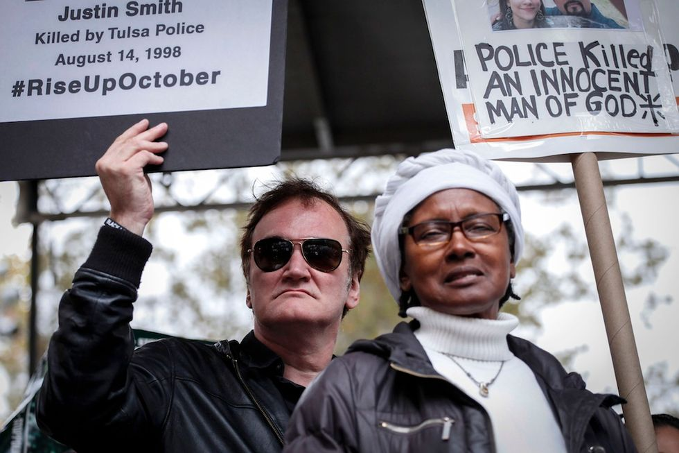 Quentin Tarantino a New York contro la violenza della polizia in USA