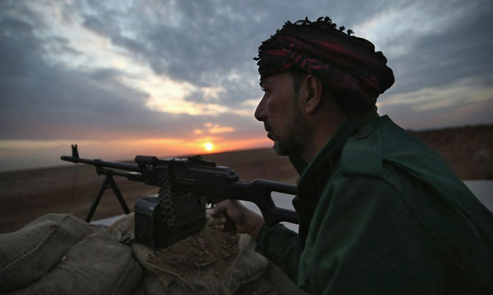 Forze curde contro l'ISIS in Iraq