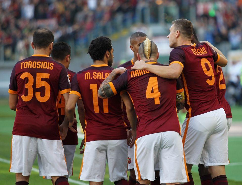 Roma - Lazio 2-0: Dzeko - Gervinho, è festa giallorossa