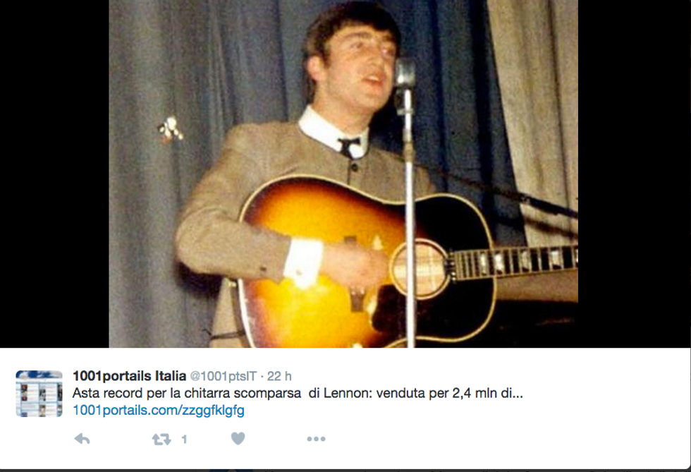John Lennon con la sua Gibson