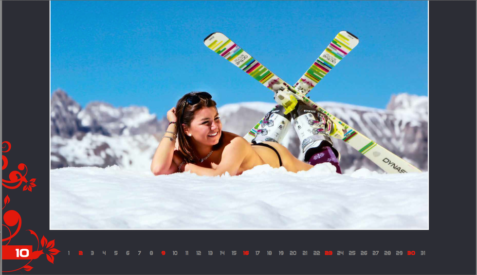 Il Calendario della insegnanti della scuola di sci di Selva