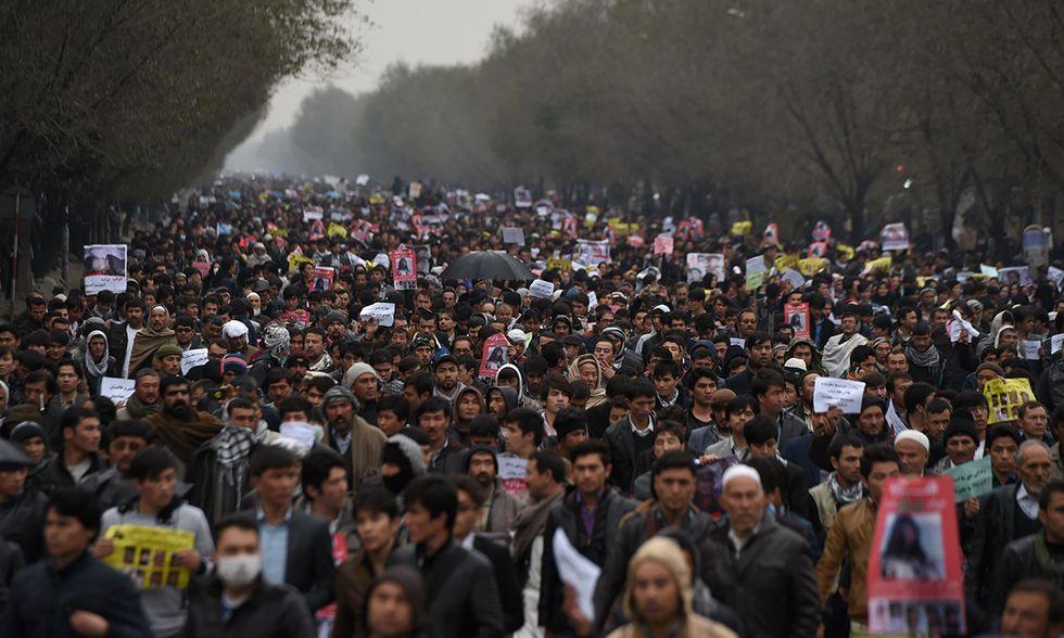 Manifestazione a Kabul