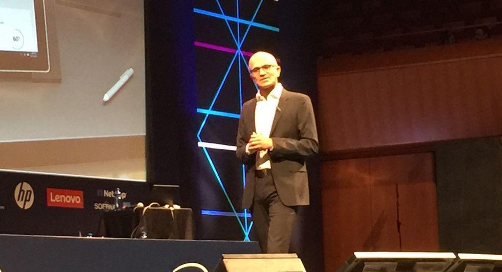Satya Nadella Microsoft Roma