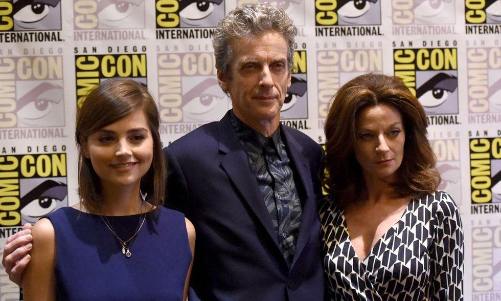 Jenna Coleman, Peter Capaldi e Michelle Gomez