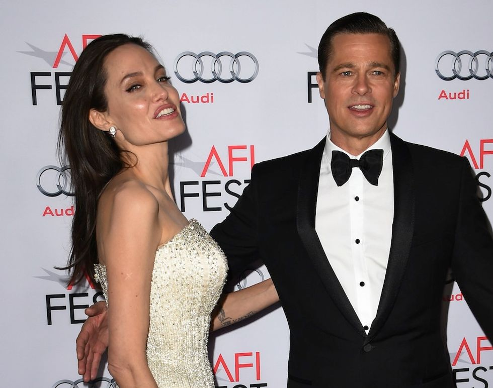 Angelina Jolie Pitt e Brad Pitt al gala per presentare 'By the Sea'