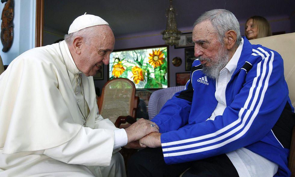 Fidel Castro con Papa Francesco