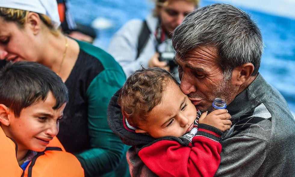 Rifugiati in arrivo in Grecia