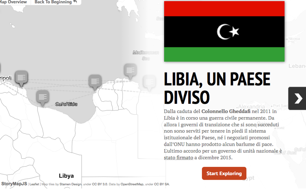 Libia, un paese diviso - Infografica