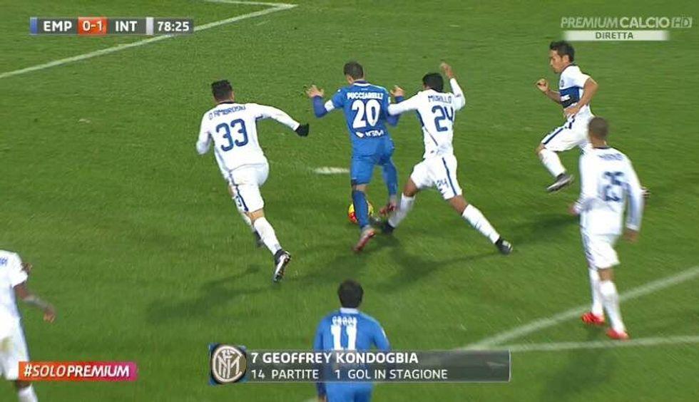 18a giornata - Inter aiutata a Empoli da Celi: manca un rigore a Pucciarelli