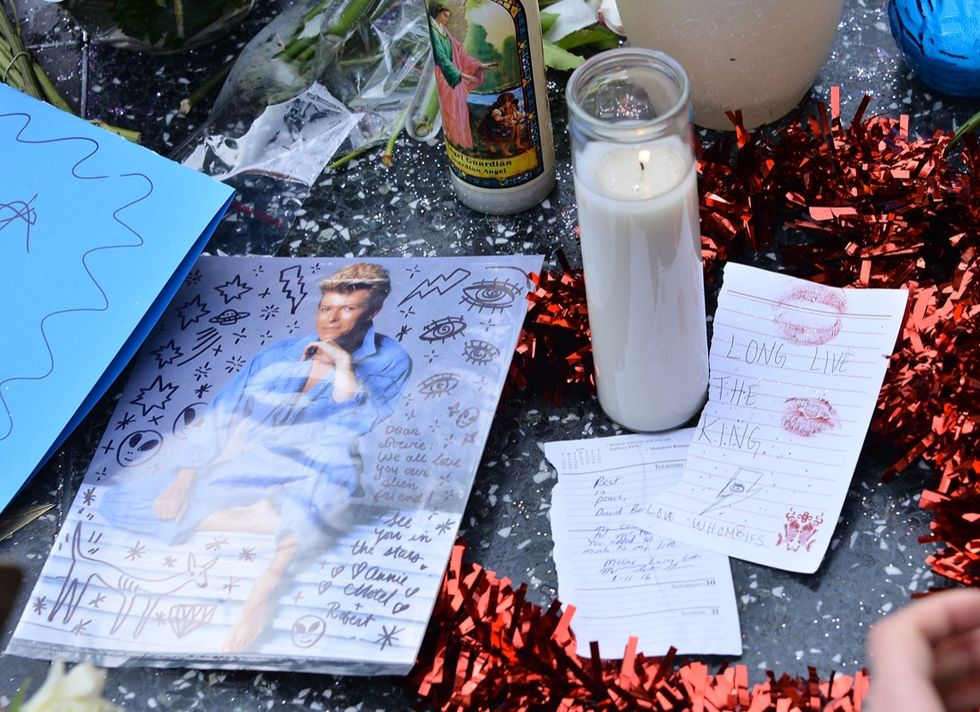 David Bowie Remembered On The Hollywood Walk Of Fame