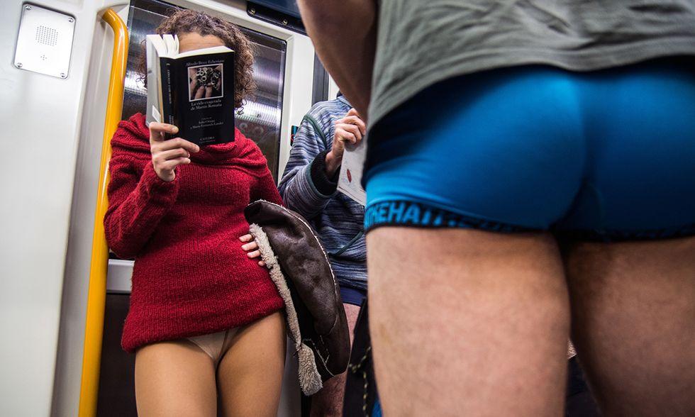 No Pants Subway Ride, Madrid