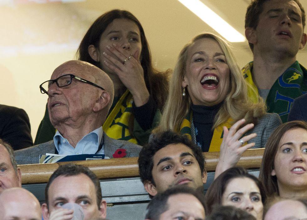 Rupert Murdoch e Jerry Hall