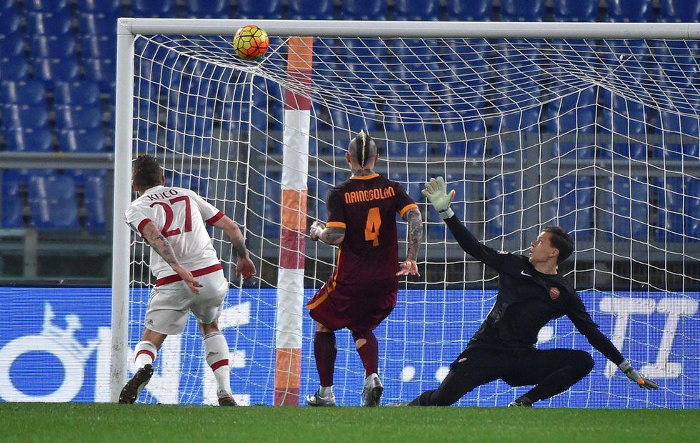 Roma - Milan 1-1, Kucka salva la panchina a Mihajlovic