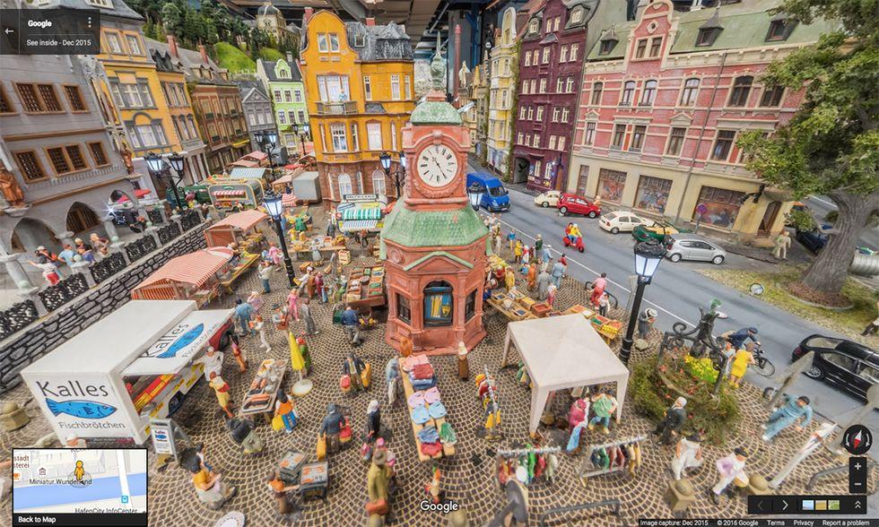 Google Street View al Miniatur Wunderland
