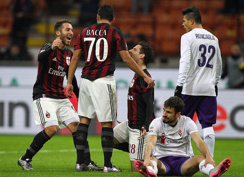 Milan - Fiorentina 2-0, Bacca e Boateng rilanciano i rossoneri