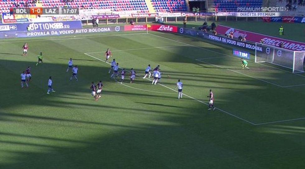 20a giornata - Lazio penalizzata a Bologna: da annullare il gol di Destro