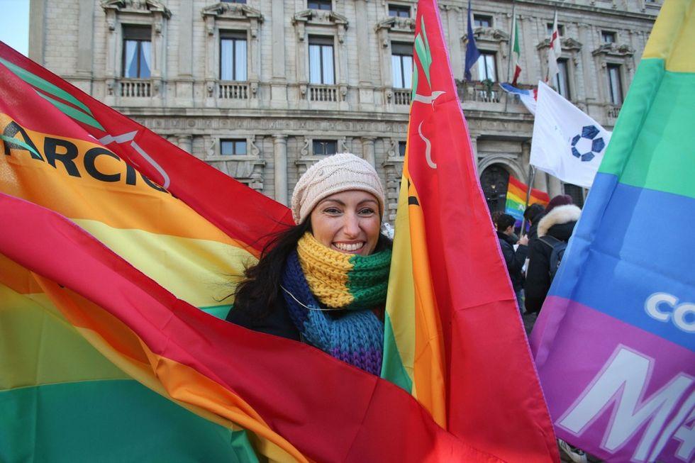 Unioni civili, manifestazioni in  tutta Italia - Foto