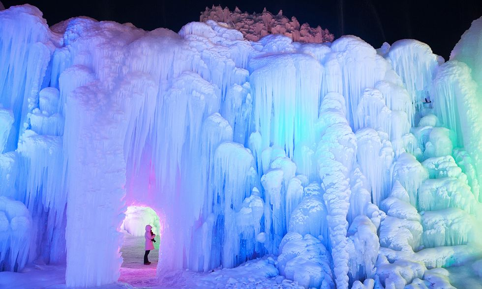 Cascate di ghiaccio a Shijiazhuang, Cina