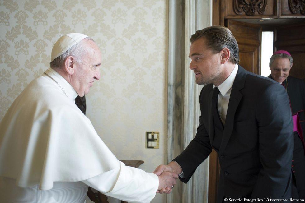 Pope Francis Leonardo DiCaprio