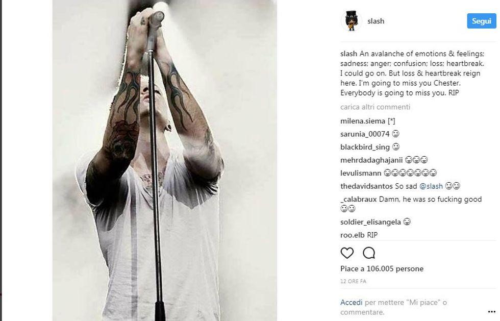 Linkin Park, il cordoglio social per la morte di Chester Bennington