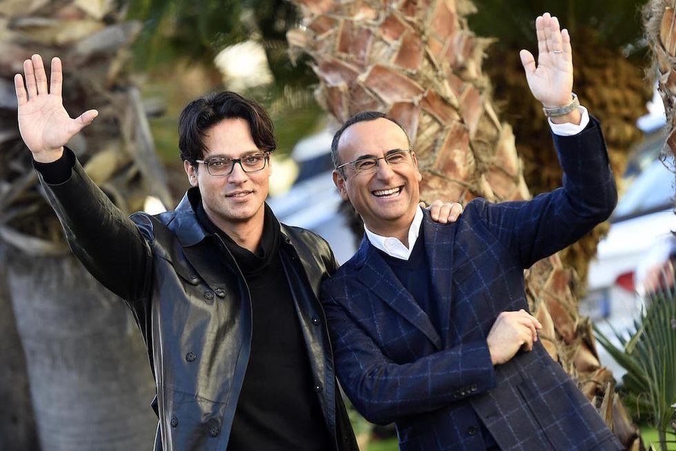 Sanremo 2016 Gabriel Garko e Carlo Conti
