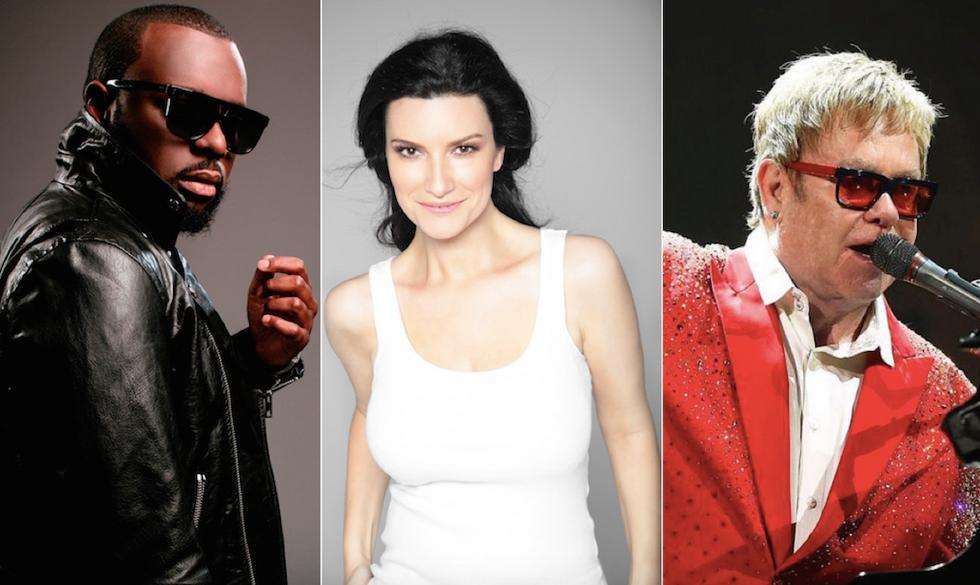 Gli ospiti musicali della prima serata di Sanremo: Maître Gims, Laura Pausini e Elton John